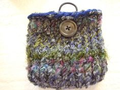 Earth forest tone Mini  Knit Bag and gadget case by soulinchains