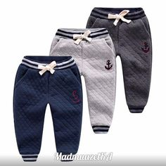 Clothing for boys 2016 – photos – Tatiana Domracheva – Join in the world of pin Baby Leggings, Baby Pants, Kids Pants, Cute Outfits For Kids, Toddler Outfits, Baby Boy Outfits, Baby Boy Fashion, Kids Fashion, Boys Joggers