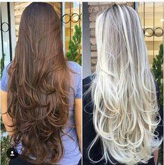 New Hair Layered Long 2018 64 Ideas Haircuts For Long Hair With Layers, Long Layered Haircuts, Long Hair Cuts, Layered Long Hair, Beautiful Long Hair, Gorgeous Hair, Silky Hair, Hair Highlights, Hair Looks