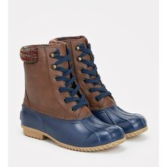 Justfab Flat Boots Quiyl ($45) ❤ liked on Polyvore featuring shoes, boots, blue, blue platform boots, flats boots, blue boots, platform flats and flat heel knee high boots