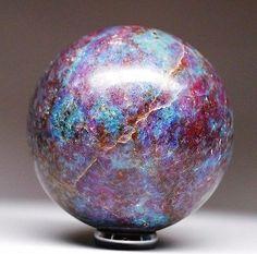 Rarest ! Large Ruby in Deep Blue Kyanite Crystal Sphere Ball ~ SPH130   Everything Else, Metaphysical, Crystal Healing   eBay!