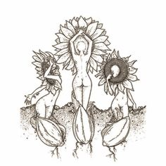 feminine mystique ॐ Painting Inspiration, Art Inspo, Wicca, Sacred Feminine, Desenho Tattoo, Wow Art, Bunt, Line Art, Art Drawings