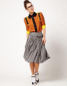 Peter Jensen Gingham Skirt