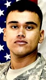 Army PFC Alberto Garcia Jr., 23, of Bakersfield, California. Died March 13, 2007, serving during Operation Iraqi Freedom. Assigned to 1st Battalion, 26th Infantry, 2nd Brigade Combat Team, 1st Infantry Division, Schweinfurt, Germany. Died of injuries sustained when enemy forces ambushed his unit using small-arms fire and an improvised explosive device during combat operations in Baghdad, Iraq.