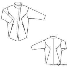 free pattern, пальто, выкройка пальто, pattern sewing, выкройки скачать, шитье, готовые выкройки, выкройки бесплатно