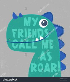 cute dinosaur head illustration with typo for baby tee print