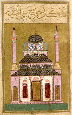 Al-Su˓ūdī | Mosque of the Bani Umayya | Maṭāli˓ al-sa˓āda wa manābi˓ al-siyāda(The Ascension of Propitious Stars and Sources of Sovereign), in Turkish | Illuminated by Vali Jan for ˓Āyisha Sulṭān (d.1604), the daughter of Sultan Murād III (r. 1574–95) | Turkey, probably Istanbul | ca. 1582 | The Morgan Library & Museum