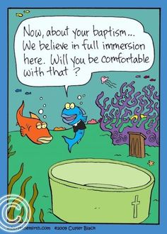 a comic in strip Baptism