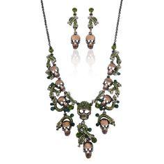 Vintage Style Skull Snake Necklace Earrings Set Green Austrian Crystal Ever Faith http://www.amazon.com/dp/B00B4R1FIE/ref=cm_sw_r_pi_dp_tEgfub009ZFKM