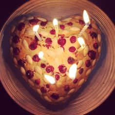 Almond and cranberry Vanilla cake...