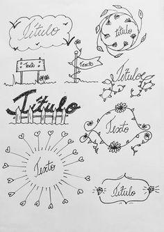 Títulos e banners para decorar o caderno ou bullet journal