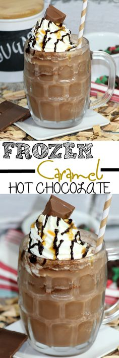 Frozen Caramel Hot Chocolate: The PERFECT Sumer COOL Treat! - sixtimemommy.com