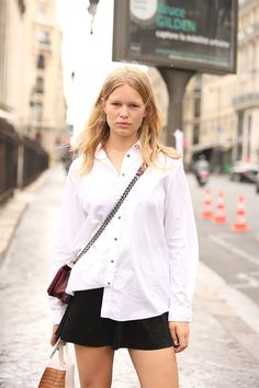 My favorite blonde bombshell #AnnaEwers goes casual #Offduty in Paris.