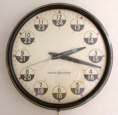 Vintage GENERAL ELECTRIC Industrial Wall Clock