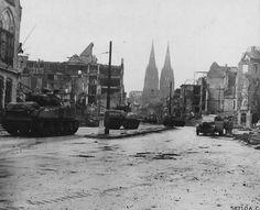 M4 Sherman tanks in Cologne 1945