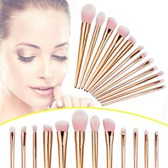 CoKate 12pcs Make Up Foundation Eyebrow Eyeliner Blush Cosmetic Concealer Brushes * Want to know more, click on the image. (This is an affiliate link) #ToolsAccessories