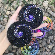 Beaded Earrings Patterns, Seed Bead Patterns, Beading Patterns, Embroidery Patterns, Beading Ideas, Bead Embroidery Tutorial, Beaded Embroidery, Seed Bead Jewelry, Beaded Jewelry