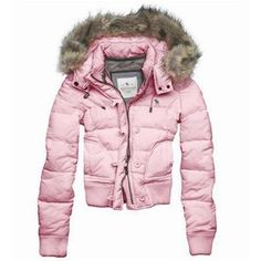 Light pink Abercrombie & Fitch bomber coat.