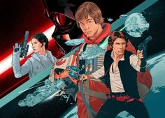 EW - Star Wars Original Trilogy Art by Martin Ansin