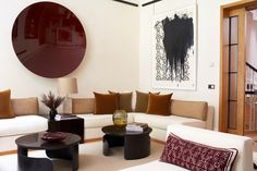 Modern interior with art by Anish Kapoor and Christopher Wool