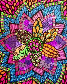 ColorIt Colorful Flowers Volume 1 Colorist: Marla Theodoro #adultcoloring…