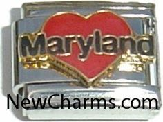 Maryland Italian Charm Bracelet Jewelry Link New Charms. $1.99. Compatible with all major brands of Italian Charms.. High quality Italian Charm.. Standard 9mm size.. Combine with other Italian Charms to show your style.