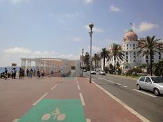 The Promenade des Anglais in Nice - France