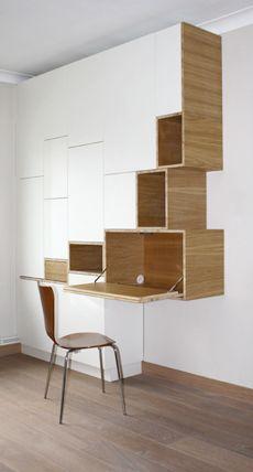 Filip Janssens fourmille d'idée originale pour intégrer les espaces bureau dans des murs filtres... Très inspirant !