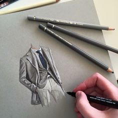 A selection of suits #art #drawing #pen #pencil #sketch #illustration #linedrawing #fashion #mensfashion #menswear #suits #fabercastell