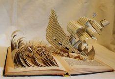 Escultura nas páginas de livros contam histórias em 3D. Artista americana Jodi Harvey -Brown