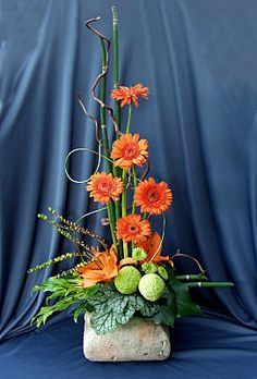 Isosceles Triangle Floral Arrangement