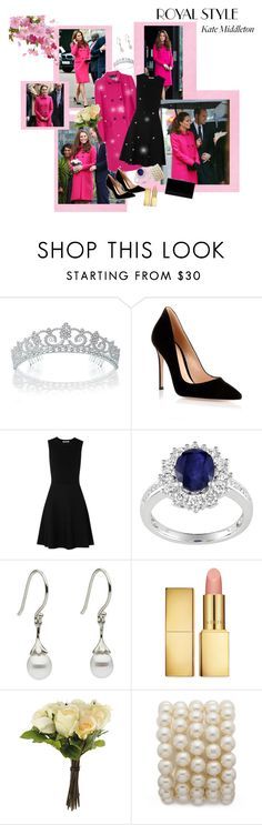"""""""Kate Middleton"""" by abbyd900 ❤ liked on Polyvore featuring Bling Jewelry, Gianvito Rossi, HUGO, Ice, AERIN, OKA and Charlotte Olympia"""