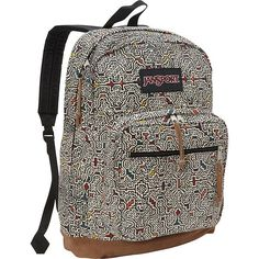 JanSport Right Pack Laptop Backpack Discontinued Colors Neutral Peruvian Maze JanSport Business and Laptop Backpacks