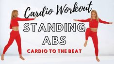 Abs And Cardio Workout, Easy Workouts, Hiit, Steady State, Standing Abs, Lose Weight, Weight Loss, Health And Fitness Tips, Repeat