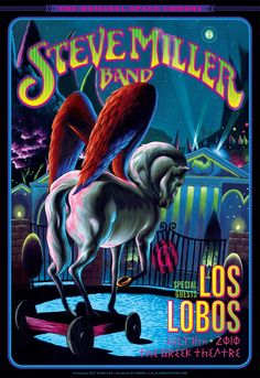 The ORIGINAL SPACE COWBOY at the Greek with LOS LOBOS Vintage Rock, Vintage Music, Retro Vintage, Vintage Kitchen, Vintage Signs, Vintage Style, Tour Posters, Band Posters, Music Posters