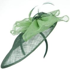 9f9d1d420c4 Clip On Fascinator Hat - Green Lime Combo W27S52A Green Fascinator