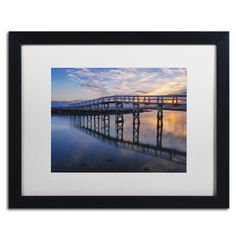 Trademark Art 'Under the Boardwalk' by Michael Blanchette Framed Photographic Print