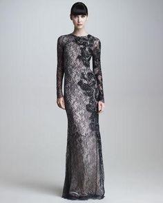 Jason Wu Long-Sleeve Embroidered Lace...     $8,590.00
