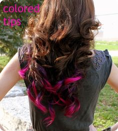 pink and purple hair tips<3 probably gonna do tthis year :D