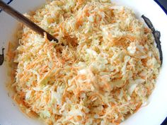 Super rychlý recept na salát coleslaw Low Carb Recipes, Vegetarian Recipes, Modern Food, Coleslaw, Bon Appetit, Ham, Macaroni And Cheese, Catering, Good Food