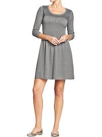 Women's Sequined Fit & Flare Sweater Dresses
