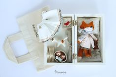 Image of Mini fox set Anni Pet Toys, Doll Toys, Kids Toys, Softies, Plushies, Worry Dolls, Diy Doll, Crochet Dolls, Handmade Toys