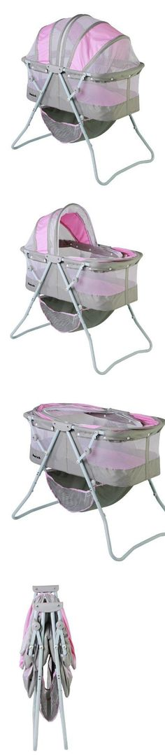Dream On Me Karley Bassinet, Grey and Pink New Born, Baby, Child, Kid, Infant, The brightly colored Dream on Me scout has a high back padded, fabric seat for your baby's comfort. Surrounding your child is a large tray to help your baby to sit upright unassisted. It is also a gre..., #Baby, #Accessories