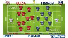 Grupo E: Partido Suiza vs Francia
