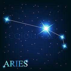 zodiac constellation pictures | Vector of 'vector of the aries zodiac sign of the beautiful bright ...