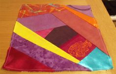 Crazy patchwork square - mixed 2