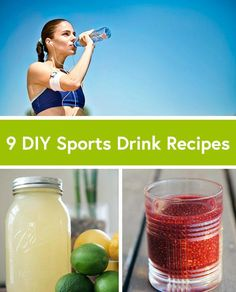 9 Homemade Sports Drink Recipes via sports drinks, staying hydrated, soccer drinks Nutrition Sportive, Sport Nutrition, Child Nutrition, Nutrition Plate, Nutrition Store, Homemade Energy Drink, Daily Burn, Sports Drink, Holistic Nutrition