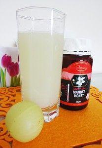 amla juice recipe, how to make amla juice with manuka honey