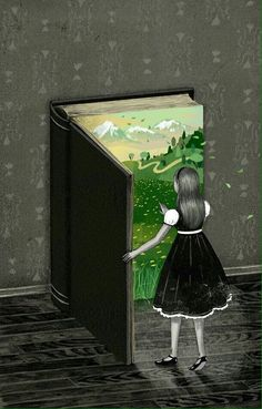 Art and illustration Blog Art, Reading Art, Woman Reading, I Love Books, Book Illustration, Magazine Illustration, Book Nerd, Book Worms, Book Lovers