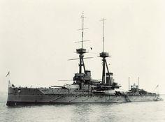 HMS Collingwood at anchor, 1912